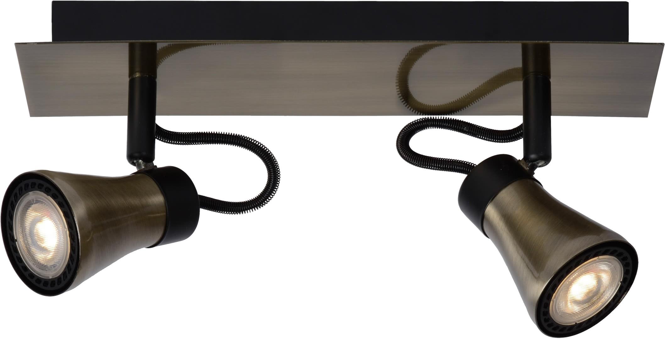 plafonnier design led 2 spots effet bronze bloom. Black Bedroom Furniture Sets. Home Design Ideas