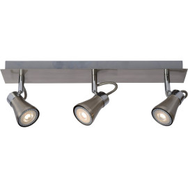 Plafonnier design led 3 spots effet chrome Bloom
