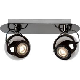 Spot boule design led métalisé 2 spots Rondo