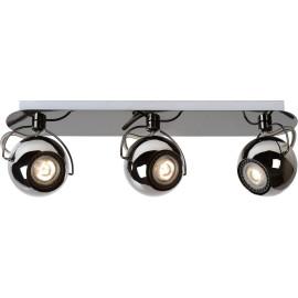 Spot boule design led métalisé 3 spots Rondo