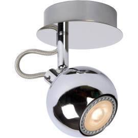 Spot design boule led chrome Paty