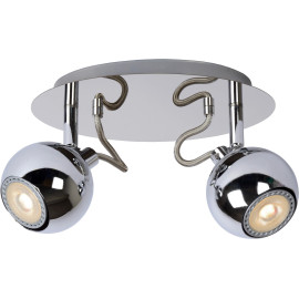 Spot design boule led chrome 2 spots Paty