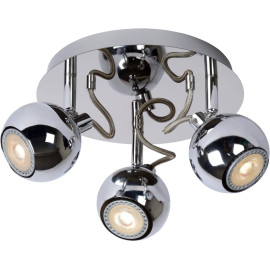 Spot design boule led chrome 3 spots Paty