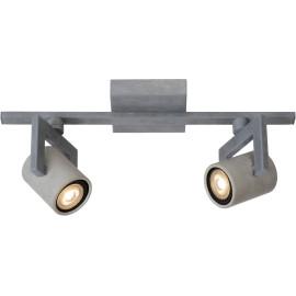 Plafonnier industriel en métal 2 spots Trevis