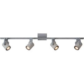 Plafonnier industriel en métal 4 spots Trevis