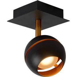 Plafonnier design noir 1 spot boule Sevina