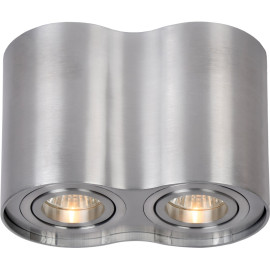 Spot tube double design en aluminium chrome Alberto