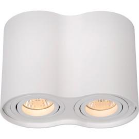Spot tube double design en aluminium blanc Alberto