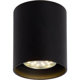 Plafonnier design cylindrique noir Malicia