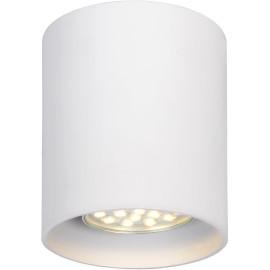 Plafonnier design cylindrique blanc Malicia