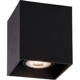 Plafonnier design cubique noir Malicia
