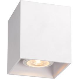 Plafonnier design cubique blanc Malicia