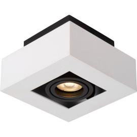 Plafonnier moderne noir et blanc 1 ampoule led Cinno