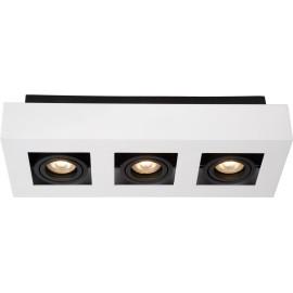 Plafonnier moderne noir et blanc 3 ampoules led Cinno