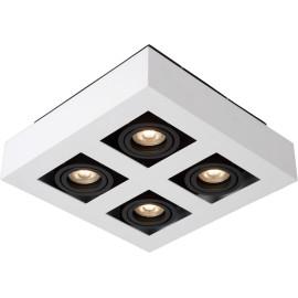 Plafonnier moderne noir et blanc 4 ampoules led Cinno