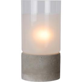 Lampe de table industrielle en béton et en verre Svelta