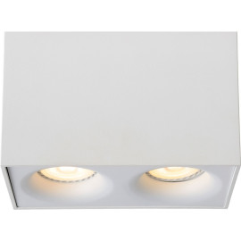 Spot design double led carré blanc Benito