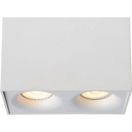Spot design double led carré blanc Benito