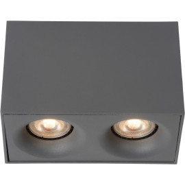 Spot design double led carré gris Benito