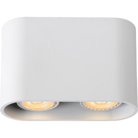 Spot design double led ovale blanc Benito