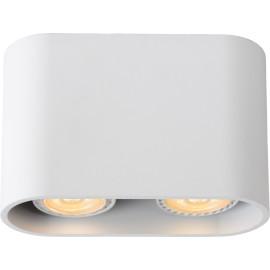 Spot design double led ovale blanc Benito