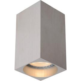 Spot moderne led carré gris chrome Deltino