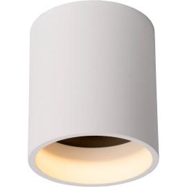 Spot rond design blanc led intégré Cadilo