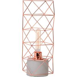 Lampe de table design en métal effet cuivre Elys