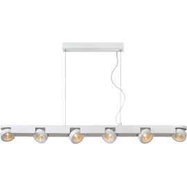 Suspension moderne blanche led 6 spots Mirabellla