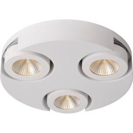 Plafonnier moderne rond 3 spots led blanc Troxy