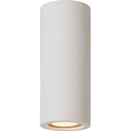 Plafonnier classique rond blanc H17 cm Phyllis