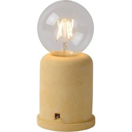 Lampe de table moderne en béton jaune Penny