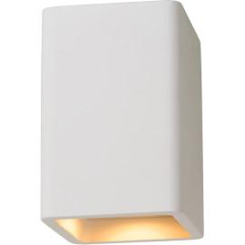 Plafonnier classique carré blanc Phyllis
