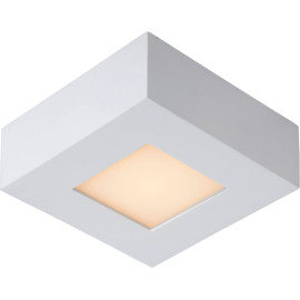 Plafonnier moderne blanc led carré L11 cm Lucette