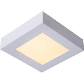 Plafonnier moderne blanc led carré L17 cm Lucette