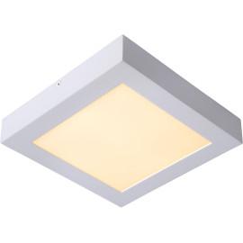 Plafonnier moderne blanc led carré L22 cm Lucette
