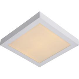 Plafonnier moderne blanc led carré L30 cm Lucette