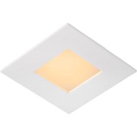 Plafonnier classique blanc led carré L 11cm Trosy
