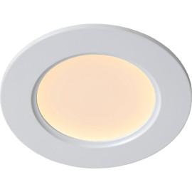 Plafonnier encastrable classique blanc led rond Léa