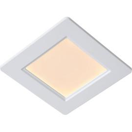 Plafonnier encastrable classique blanc led carré Léa