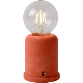 Lampe de table moderne en béton rouge Penny