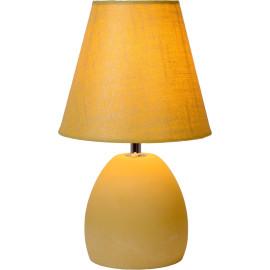 Lampe de table classique en béton et tissu jaune Myro