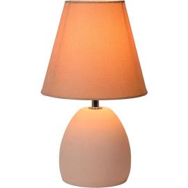 Lampe de table classique en béton et tissu crème Myro