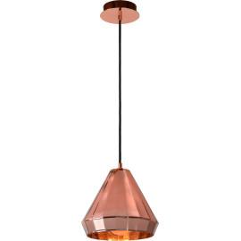 Suspension design métal cuivré et verre Marvine