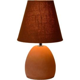 Lampe de table classique en béton et tissu brun Myro