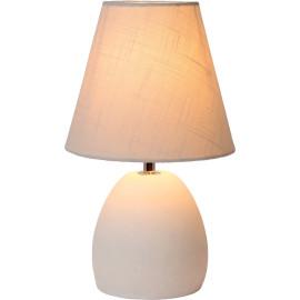 Lampe de table classique en béton et tissu bleu clair Myro