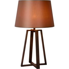 Lampe de table design en acier effet rouille Apolina