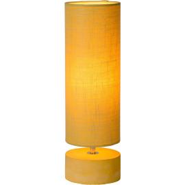 Lampe de table baroque béton et lin jaune Maryse