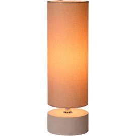 Lampe de table baroque béton et lin crème Maryse