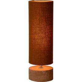 Lampe de table baroque béton et lin brun Maryse
